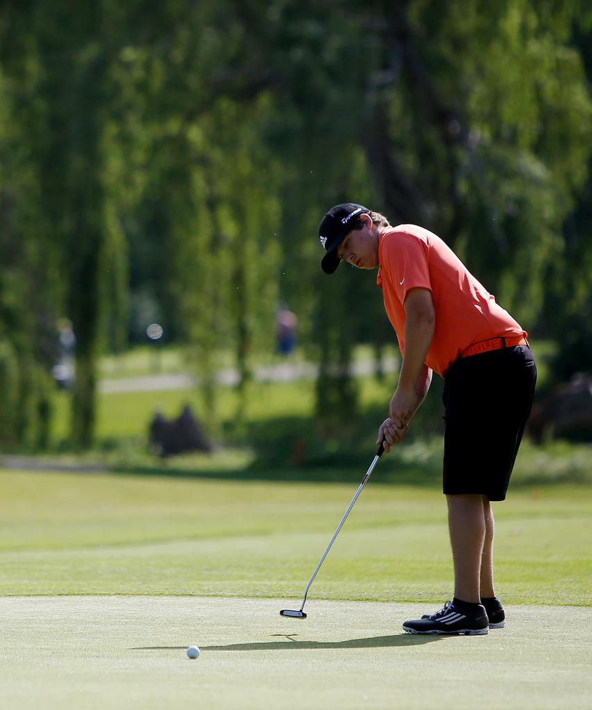 grand blanc captures regional golf title flushing 39 s joe. Black Bedroom Furniture Sets. Home Design Ideas