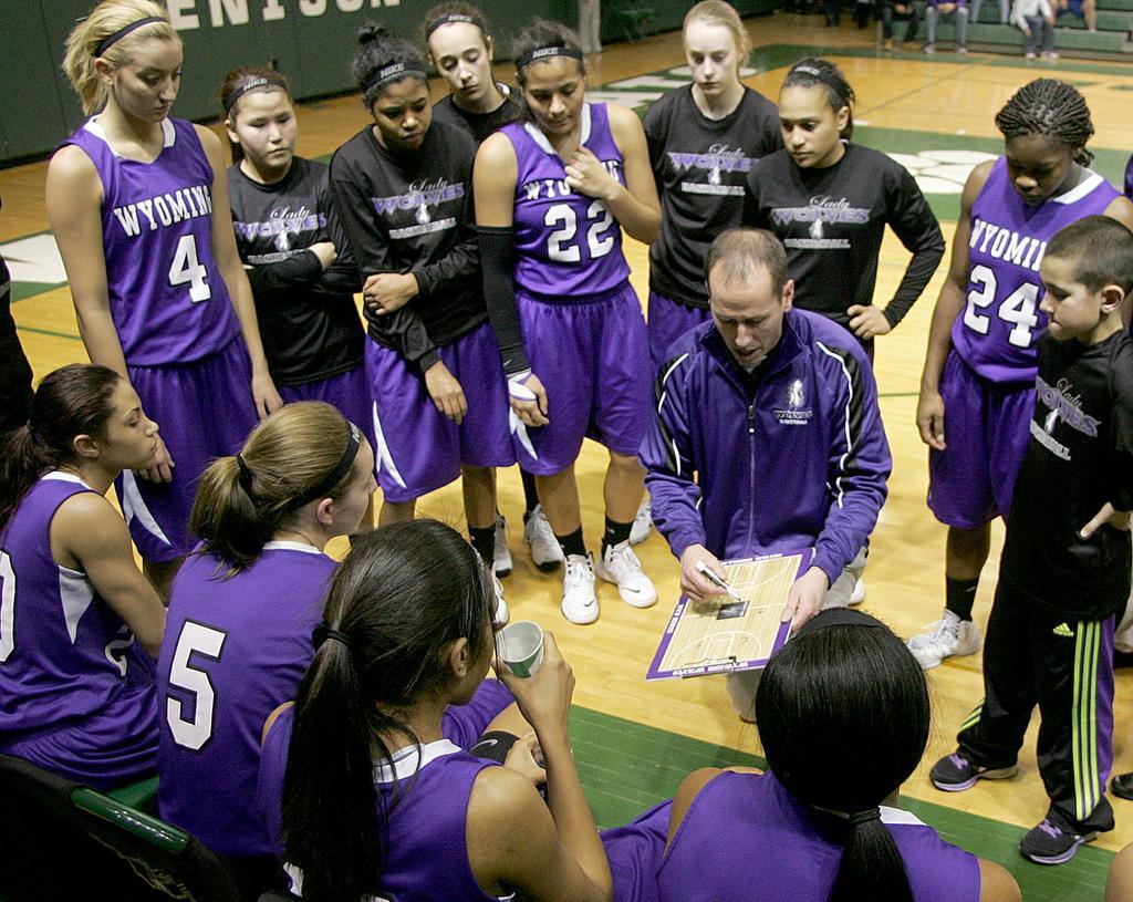 Wyoming girls basketball team exhibits scrappy play unselfish attitudes
