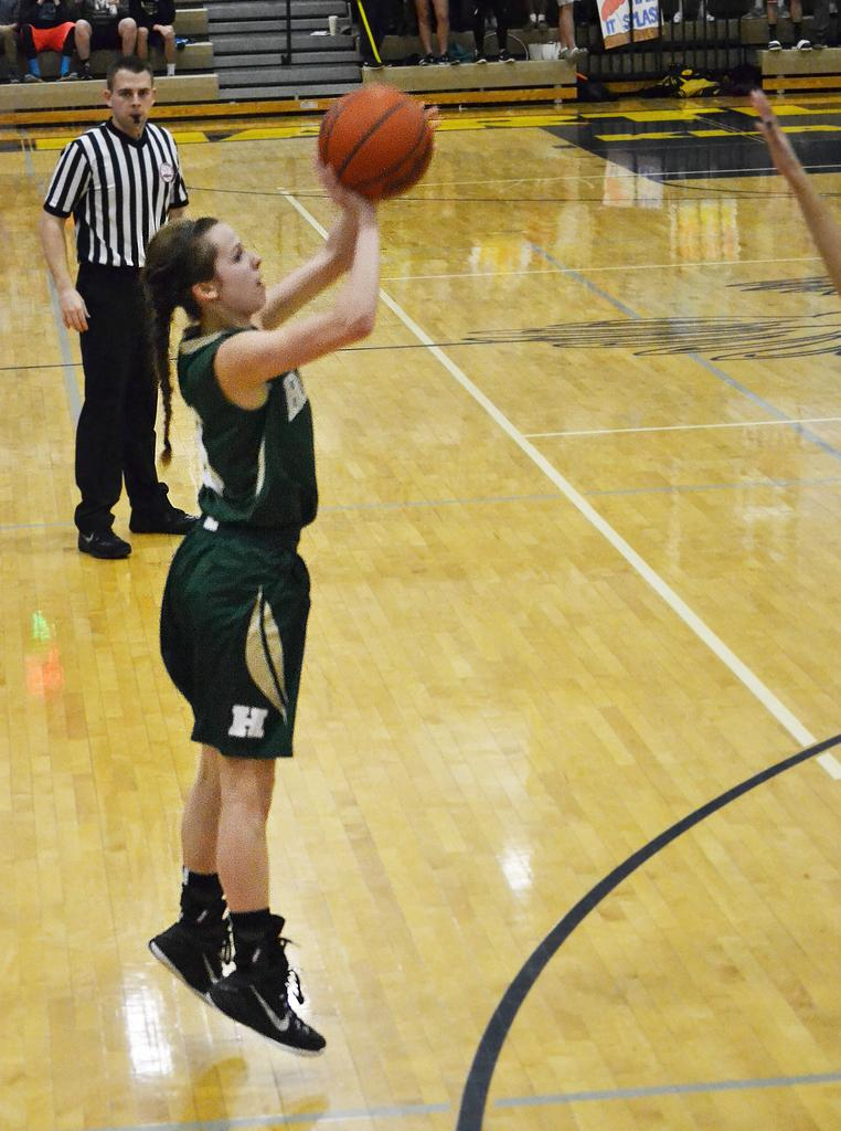 Alexis Miller's game tying 3-pointer late in the 4th quarter forced overtime. Howell went on the win the game, 38-35.