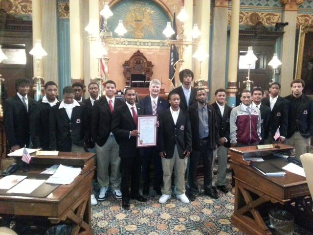 Muskegon's state champion boys basketball team honored with trip to State Capitol