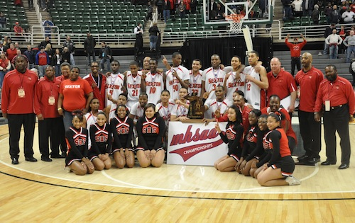Lansing Sexton Overpowers Muskegon Heights 75 60 To Win The Class B Boys Basketball State