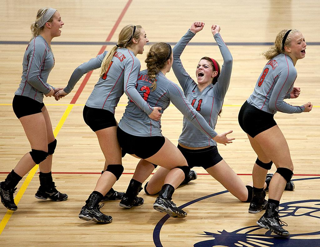 Frankenmuth knocks off Class B volleyball power North ...