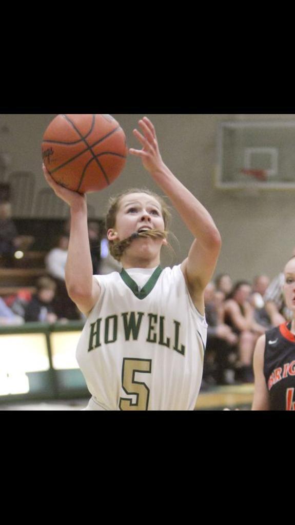 Alexis Miller attacks the hoop