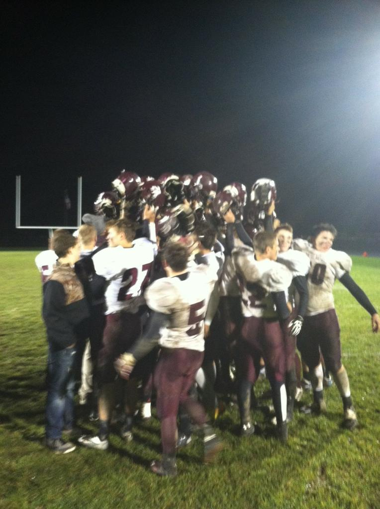 Eaton Rapids wins first football postseason game in school history with 49-21 win over Charlotte