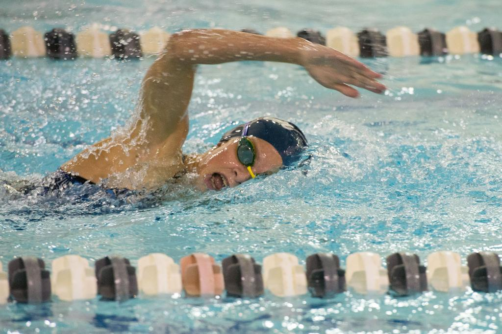 Kimble Darbee Leads Bay City Area Swimming Contingent With Two Strong State Final Finishes