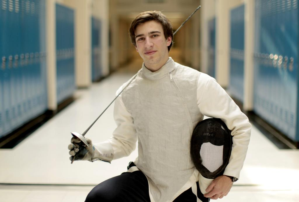 Boys Fencing John Vaiani Of Christian Brothers Academy Is