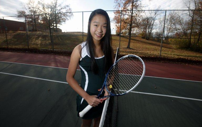 girls tennis jennifer chen of east brunswick receives the top seed in the greater middlesex. Black Bedroom Furniture Sets. Home Design Ideas