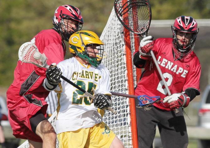 Lenape boys lacrosse pulls away in second half
