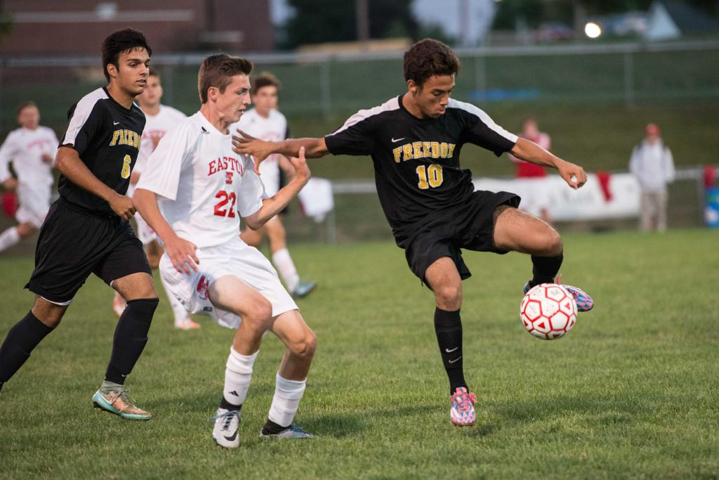 Freedom boys soccer doesn't succumb to grind, beats Easton ...