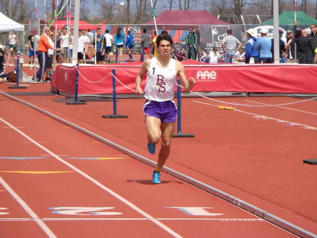Boiling Springs' Jonathan Goodson wins the 1,600 at Saturday's 88th Jack Roddick Invitational, held at Shippensburg University (Andy Sandrik/Special to ...