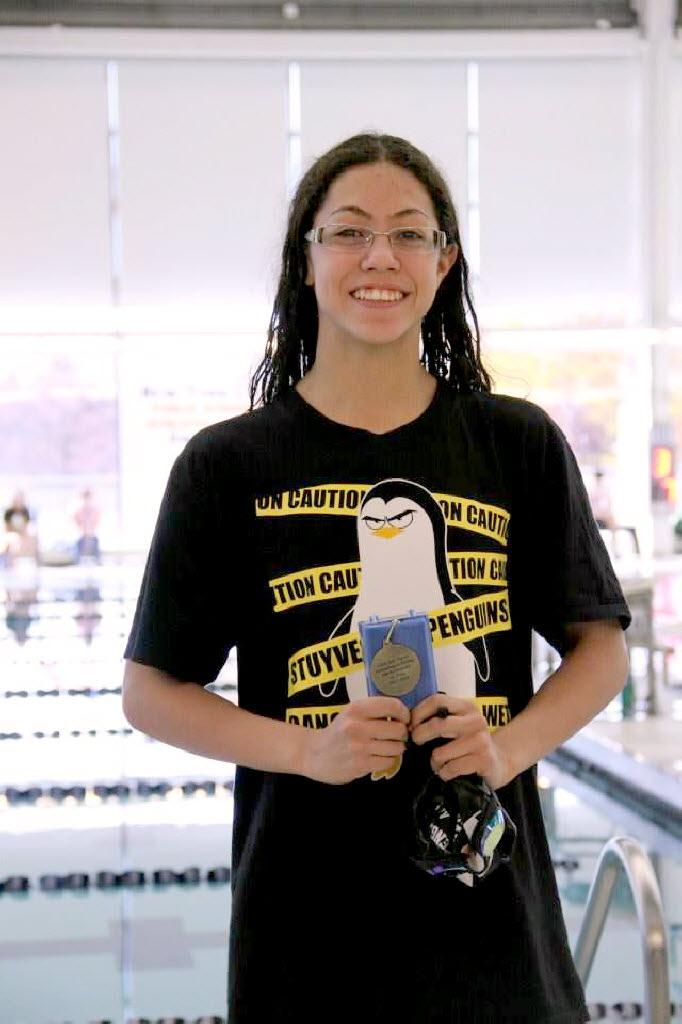 Athletes in the spotlight staten island 39 s krystal lara is a dominant swimmer with an eye toward for Stuyvesant high school swimming pool
