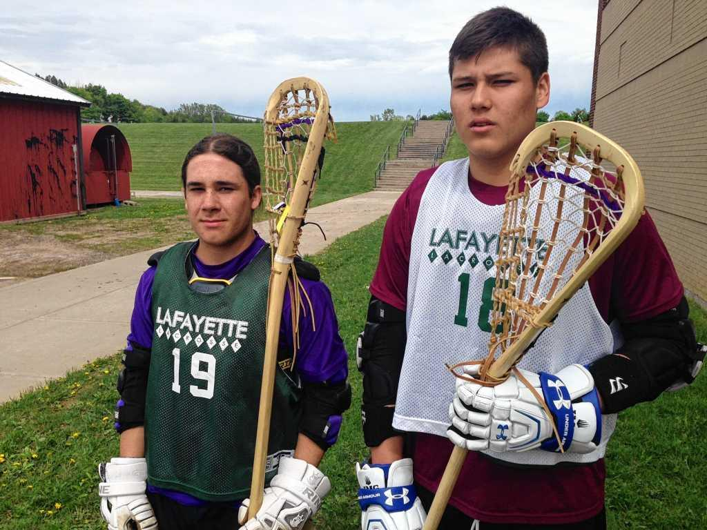 Lafayette Players Bust Out The Wooden Lacrosse Sticks Even For