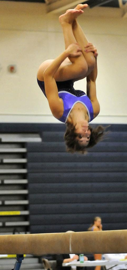 Taylor Riley Leads J D F M Girls Gymastics To Victory By