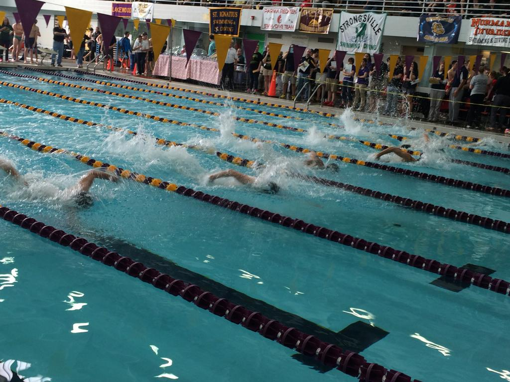 Strongsville 39 s girls and boys swim teams win sectional championships video for Cleveland high school swimming pool