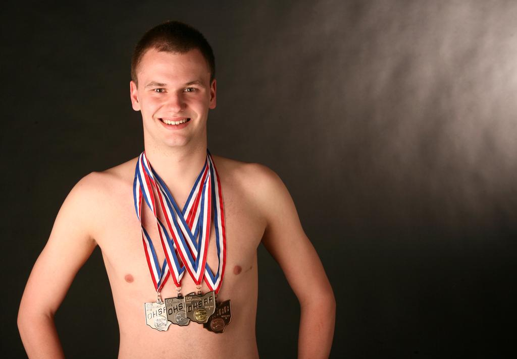 Chagrin falls 39 davis staley heads plain dealer 39 s 2012 boys swimming all stars for Cleveland high school swimming pool
