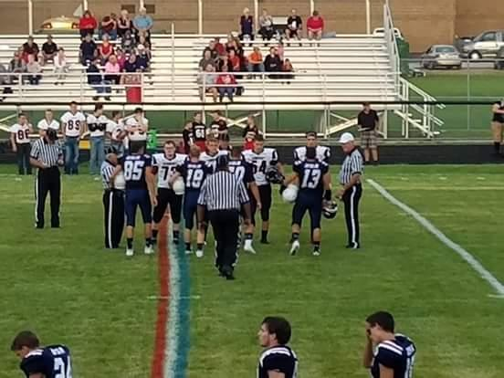 Pre-game captains meeting