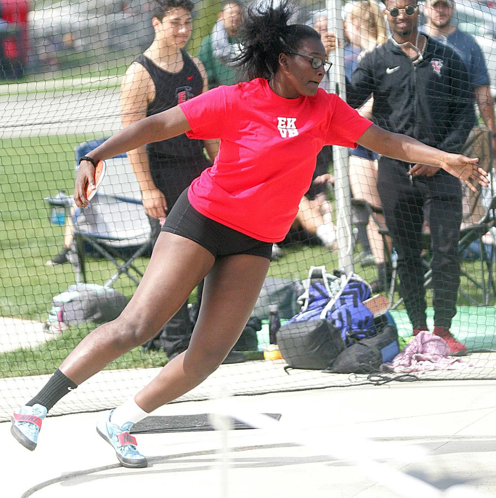 East Kentwood girls track team runs away with Division 1 regional track title