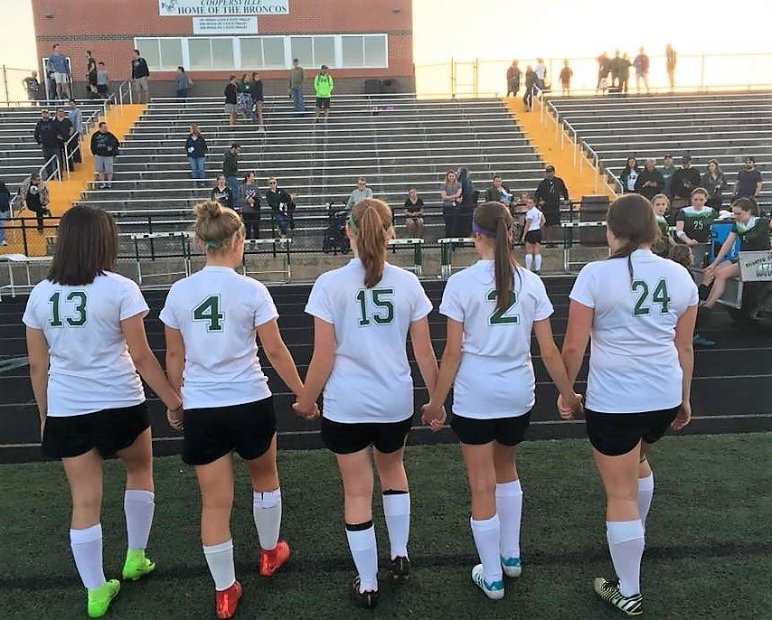 Senior class leading the way for improving Coopersville girls soccer team