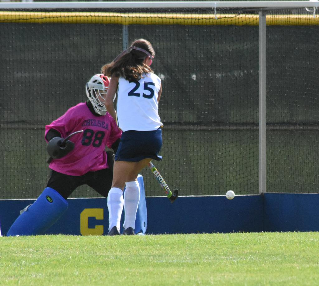 Kyle bragg helps out her goalkeeper al wright