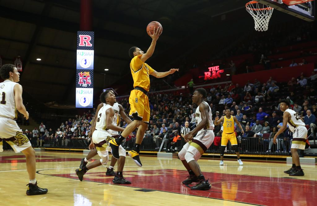 Jahvon Quinerly of Hudson Catholic, shown here against St. Anthony, is part of JellyFam, which feels is being exploited by Nike's new shoes. (John Munson | NJ Advance Media for NJ.com)