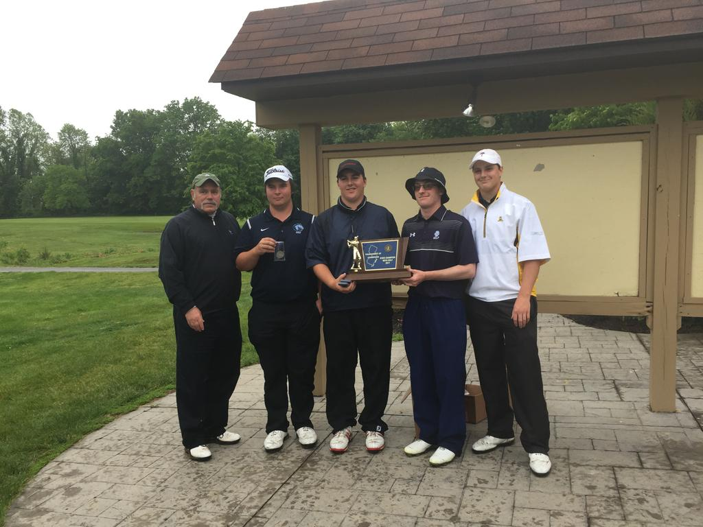 The Christian Brothers Academy boys golf team after winning the Tournament of Champions. (Mike Gurnis   For NJ Advance Media)