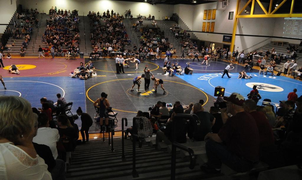 Follow District 11 wrestling brackets