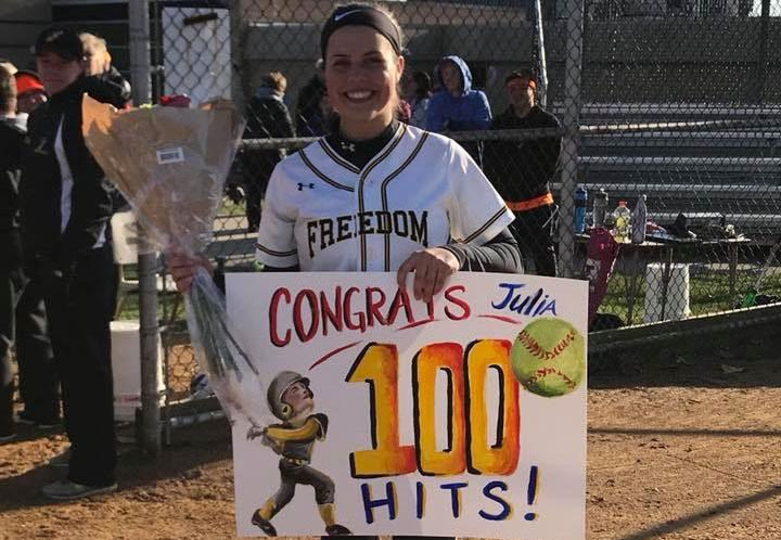 Freedom's Julia Roman with key homer for 100th career hit