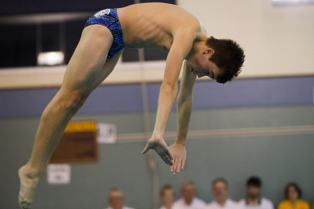 Chambersburg's Nick Cover captures gold at District 3 Class 3A Diving Championship