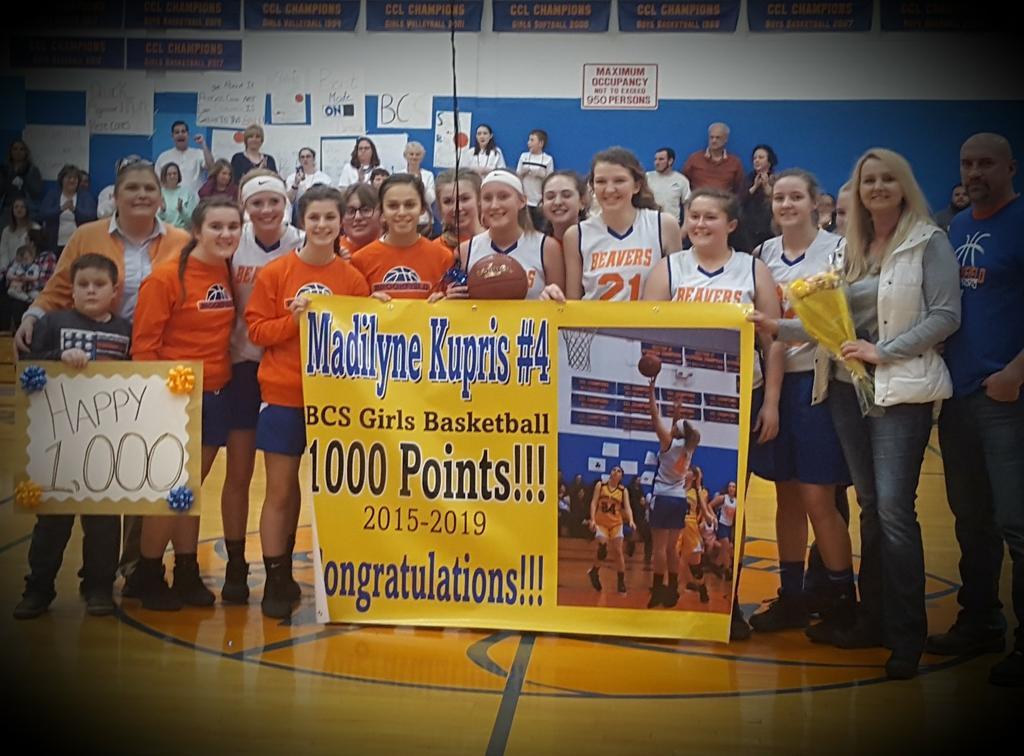 Section III girls basketball 1,000 point club
