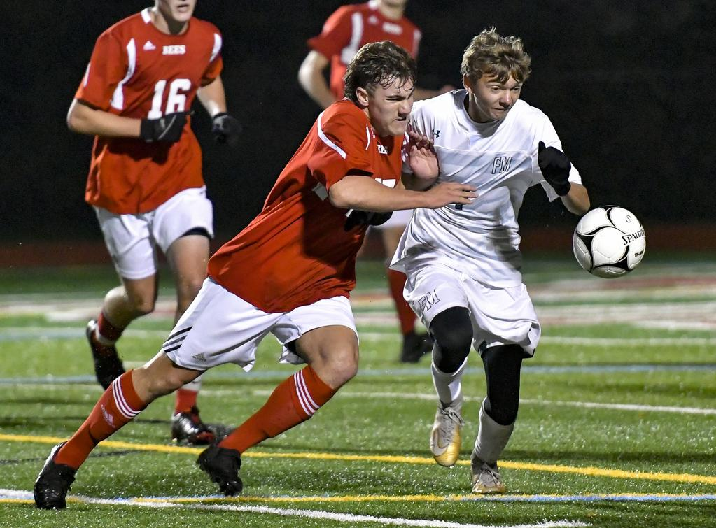Three second-half goals lift Baldwinsville over F-M in boys AA sectional soccer